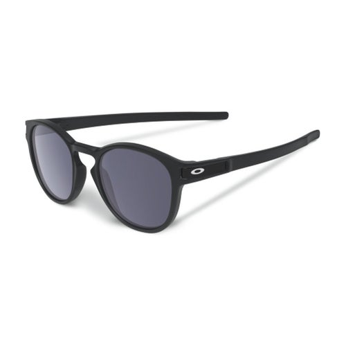 Oakley Latch Sunglasses - Matte Black ~ Grey