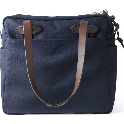 Filson Tote With Zipper 17 Luggage - Navy