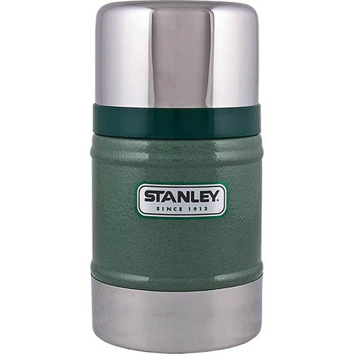 Stanley Classic 502ml Food Jar Vacuum Flask - Hammertone Green