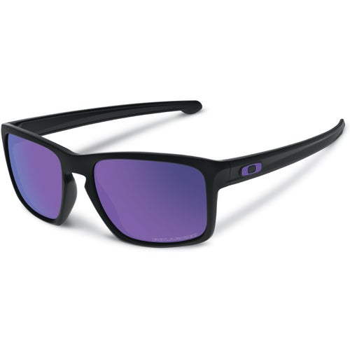 Oakley Sliver Polarised Sunglasses - Matte Black ~ Violet Iridium