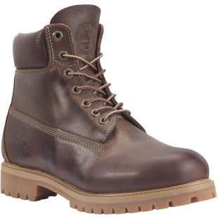 Timberland Heritage Classic 6 Inch Premium Waterproof Boots - Brown Burnished Full Grain