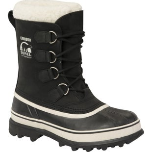 Sorel Caribou Faux Fur Ladies Boots - Black Stone