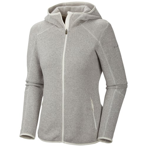 Columbia Altitude Aspect Hooded Ladies Fleece - Sea Salt Heather