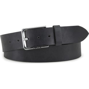 Levis Wheeler Leather Belt - Regular Black