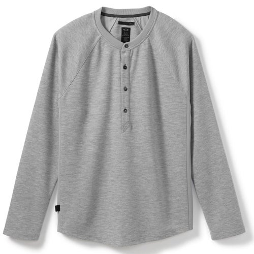 Oakley Icon Henley LS T-Shirt - Heather Grey