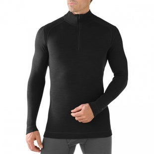 Smartwool NTS Mid 250 Zip Base Layer Top - Black
