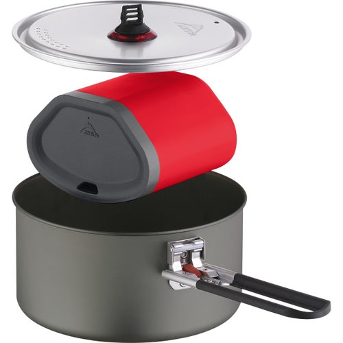 MSR Quick Solo System Cooking Set - Grey Red