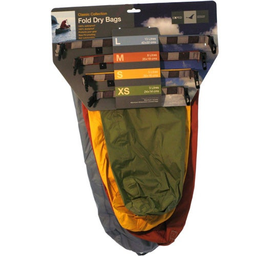 Exped 2017 Fold Dry 4 Pack Drybag - Classic Assorted
