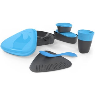 Light My Fire 8 Piece Mealkit 2.0 Camping Accessory - Cyan