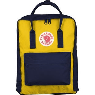 Fjallraven Kanken Classic Backpack - Navy Warm Yellow