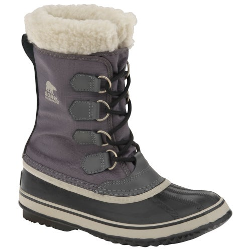 Sorel Winter Carnival Faux Fur Ladies Boots - Pewter Black
