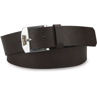 Levis New Legend Leather Belt - Dark Brown