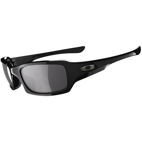 Oakley Fives Squared Sunglasses - Polished Black ~ Grey