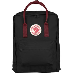Fjallraven Kanken Classic Backpack - Black Ox Red