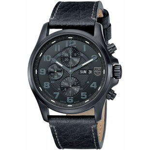 Luminox Field Valjoux Chronograph Alarm 1861BO Watch - Black Black Dial