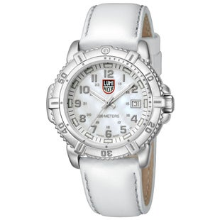 Luminox Steel Colourmark 7257 Watch - White Mother of Pearl Dial