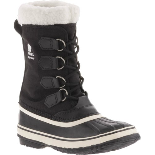 Sorel Winter Carnival Faux Fur Ladies Boots - Black Stone