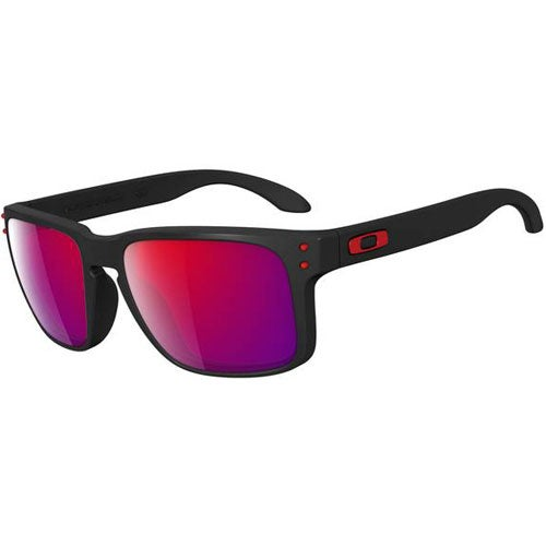 Oakley Holbrook Sunglasses - Matte Black ~ Positive Red Iridium