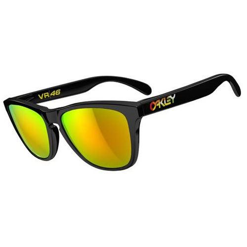 Oakley Frogskin Valentino Rossi Sunglasses - Polished Black ~ Fire Iridium