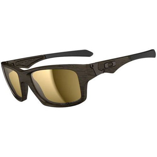 Oakley Jupiter Squared Polarised Sunglasses - Woodgrain ~ Tungsten Iridium