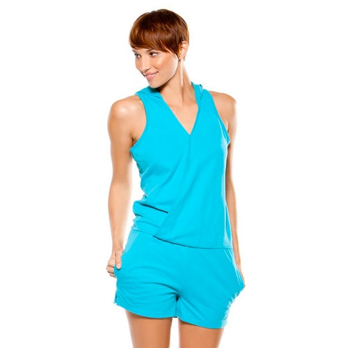 Oakley Make Out Ladies Playsuit - Bright Aqua