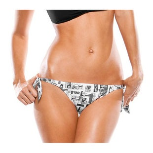 Oakley Dolly Ladies Bikini Bottoms - Printed White