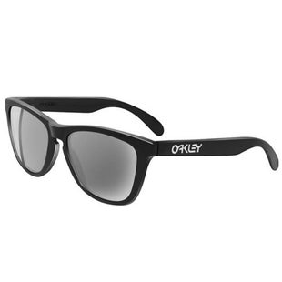 Oakley Frogskin Sunglasses - Polished Black ~ Grey