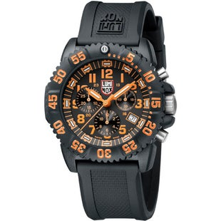 Luminox Navy Seal Colormark Chrono 3089 Watch - Black Orange Dial