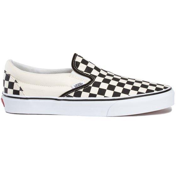 0044d38455 Vans Classic Slip On Shoes - White Black Checkerboard