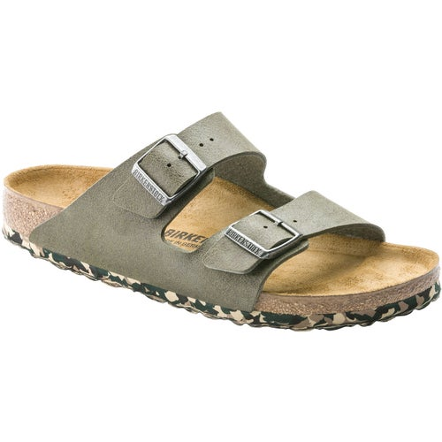 Birkenstock Arizona Microfiber Sandals - Sandwashed Green