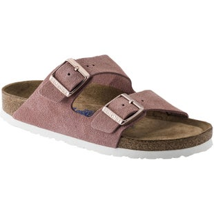 Birkenstock Arizona Soft Footbed Suede Leather Ladies Sandals - Rose