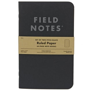 Field Notes Pitch Black Ruled Note Book 2-pack Book - Black