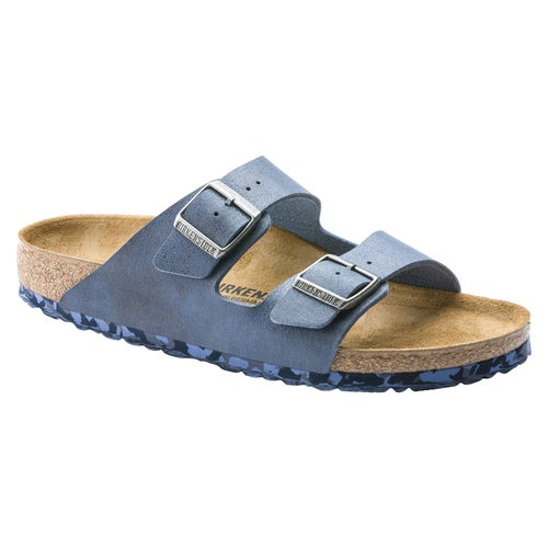 Birkenstock Arizona Microfiber Sandals - Sandwashed Blue