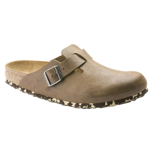 Birkenstock Boston Microfiber Slip On Shoes - Sandwashed Brown