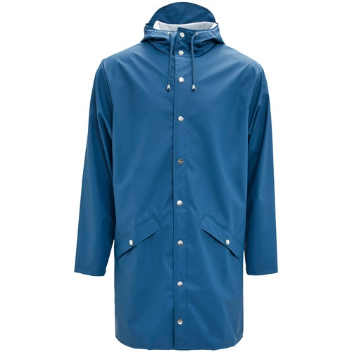 Rains Long Jacket - 42 Faded Blue