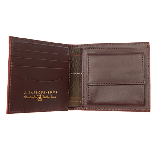 Barbour Leather Grain Wallet - Dark Brown