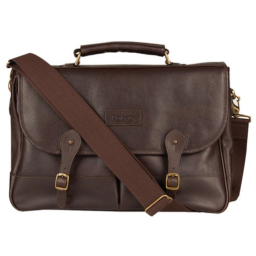 Barbour Leather Briefcase Bag