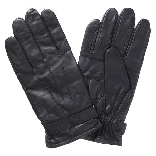 Barbour Burnished Leather Insulated Gloves - Black