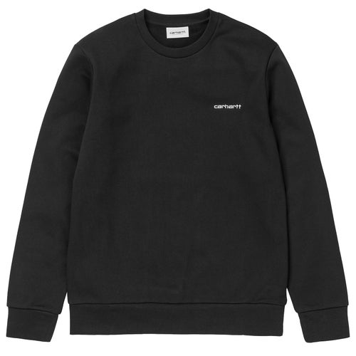 Carhartt Script Embroidery Sweater - Black White