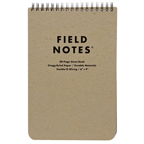 Field Notes 80-page Steno Pad (gregg-ruled Paper) Book - Brown