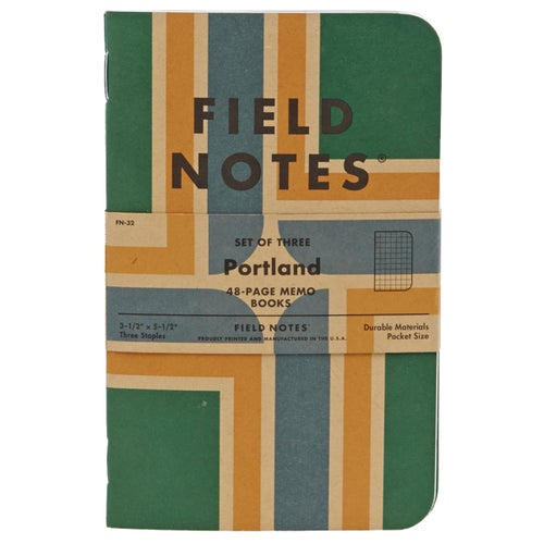 Field Notes Portland 3-pack (graph Paper) Book - Multi