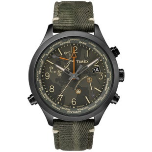Timex Waterbury World Time Watch - Black