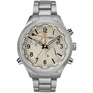 Timex Waterbury World Time Watch - Stainless Steel