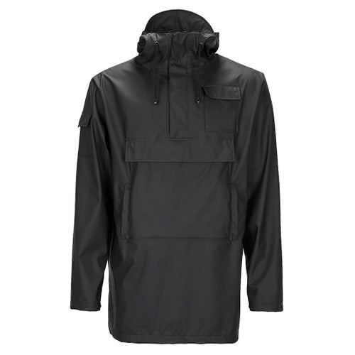 Rains Camp Anorak Jacket - Black