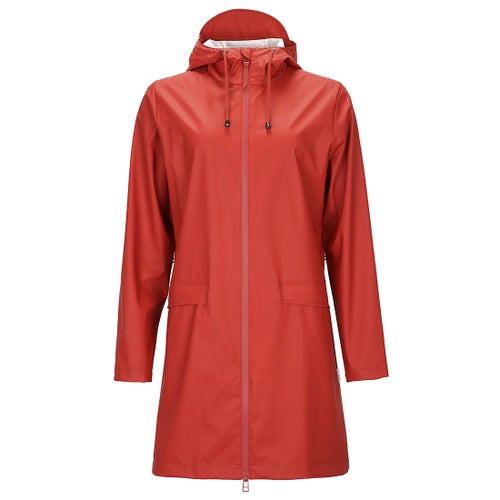 Rains W Coat Ladies Jacket - Scarlet