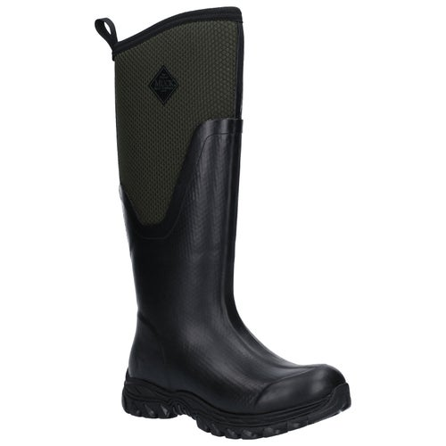 Muck Boots Arctic Sport II Tall Ladies Wellies - Black/moss