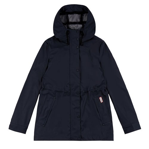 Hunter Original Lightweight Rubberised Ladies Jacket - Navy