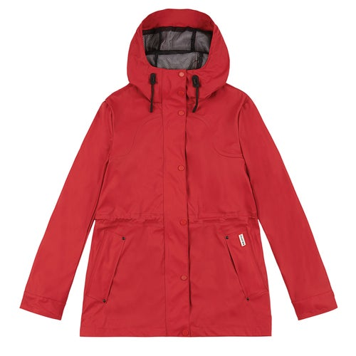 Hunter Original Lightweight Rubberised Ladies Jacket - Military Red