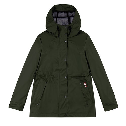 Hunter Original Lightweight Rubberised Ladies Jacket - Dark Olive