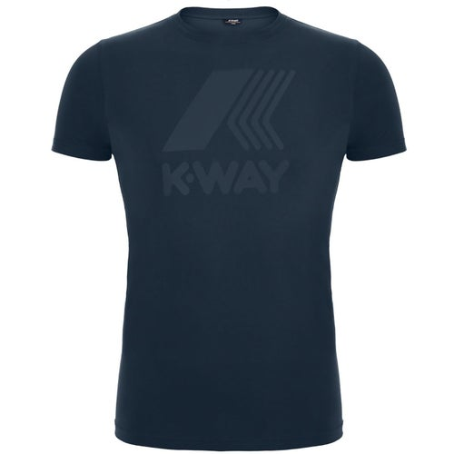 K-Way Elliot Macro Logo T Shirt - Blue Depth